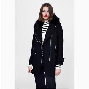 Zara combined biker coat